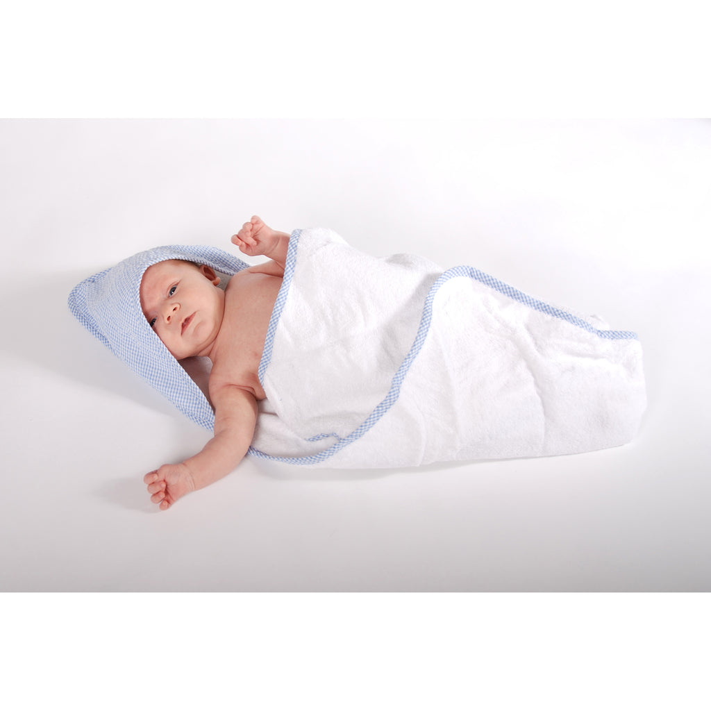 Gingham Seersucker Blue Hooded Towel Trend Lab, LLC