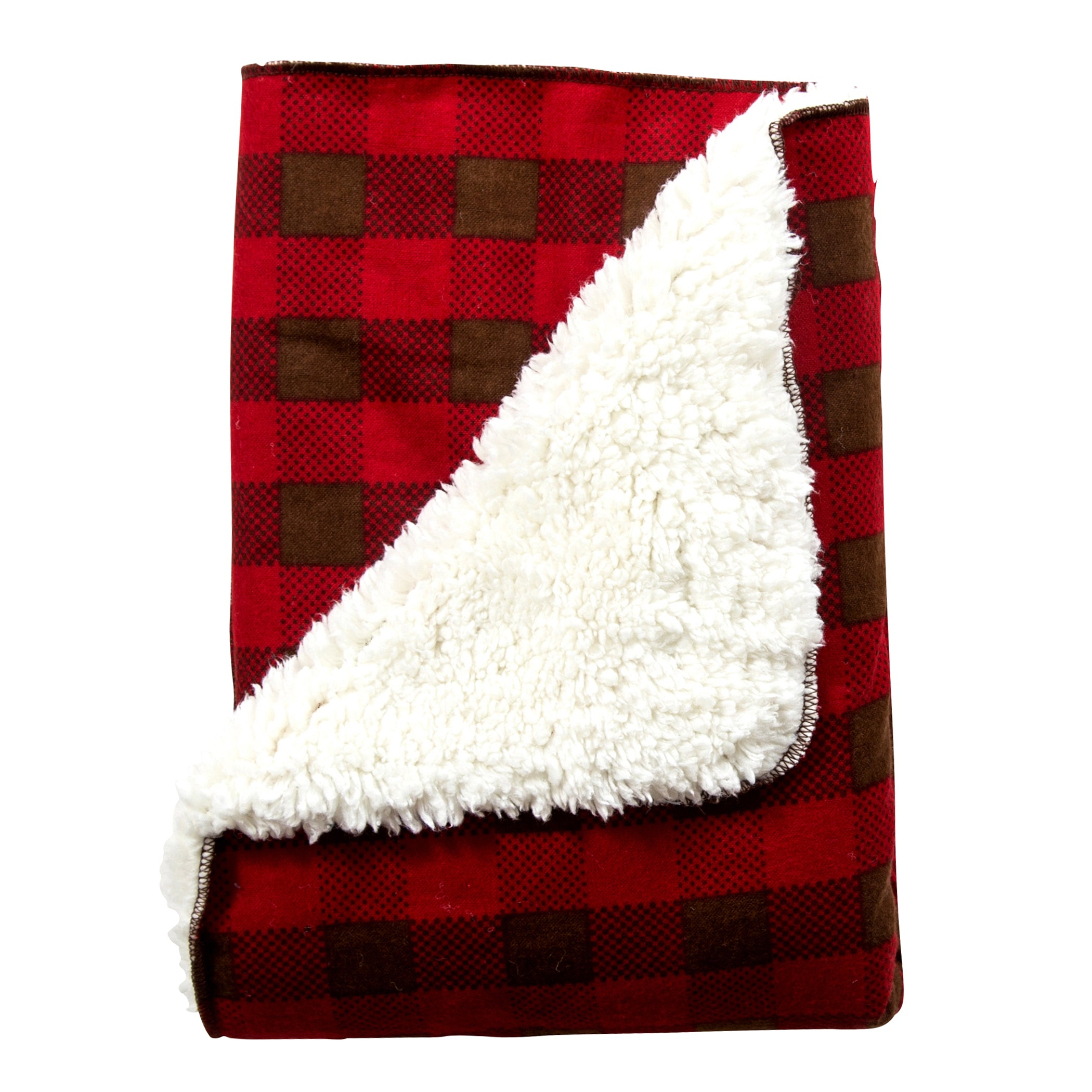 Northwoods Faux Shearling Receiving Blanket Bedding And