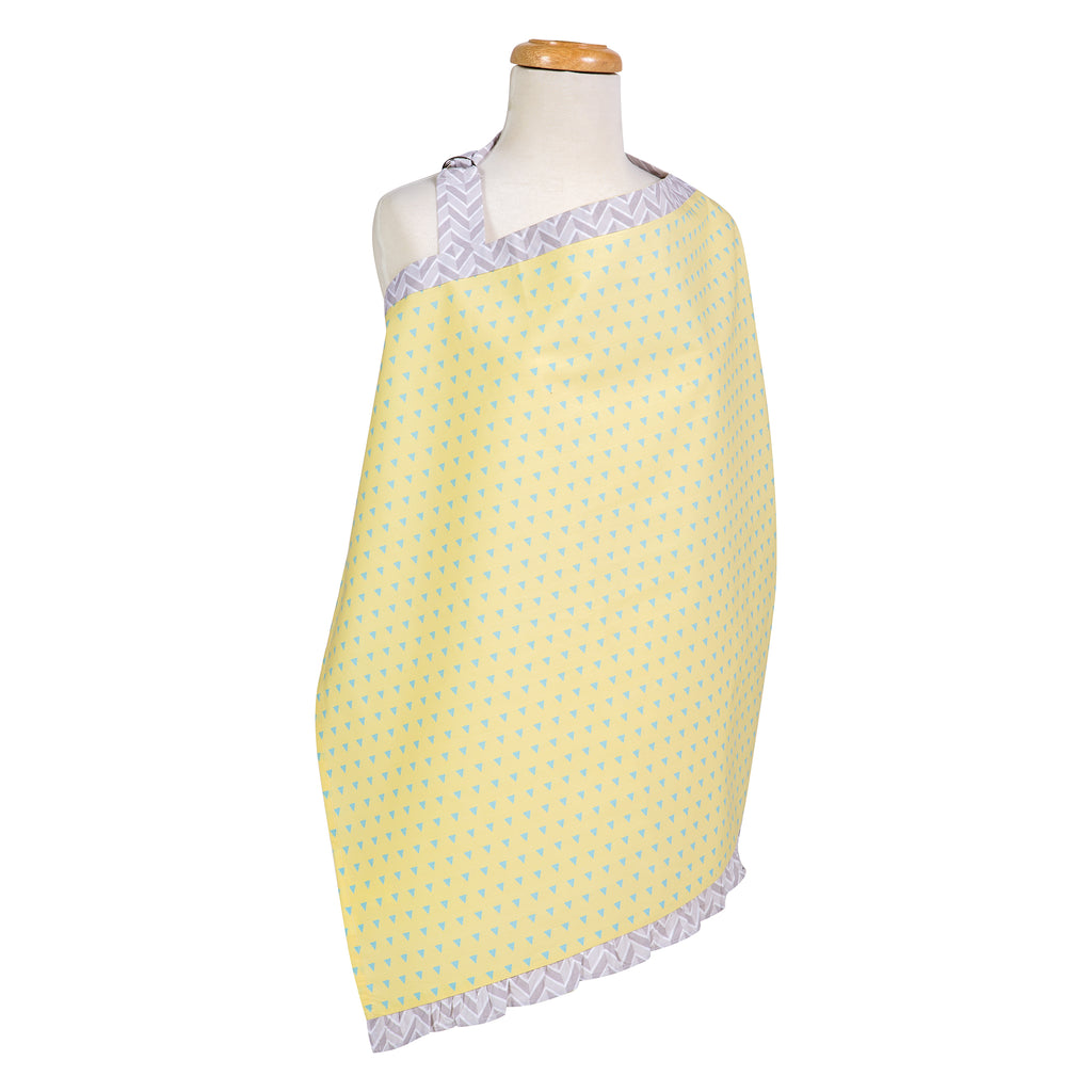 Triangles Yellow and Aqua Nursing Cover Trend Lab, LLC