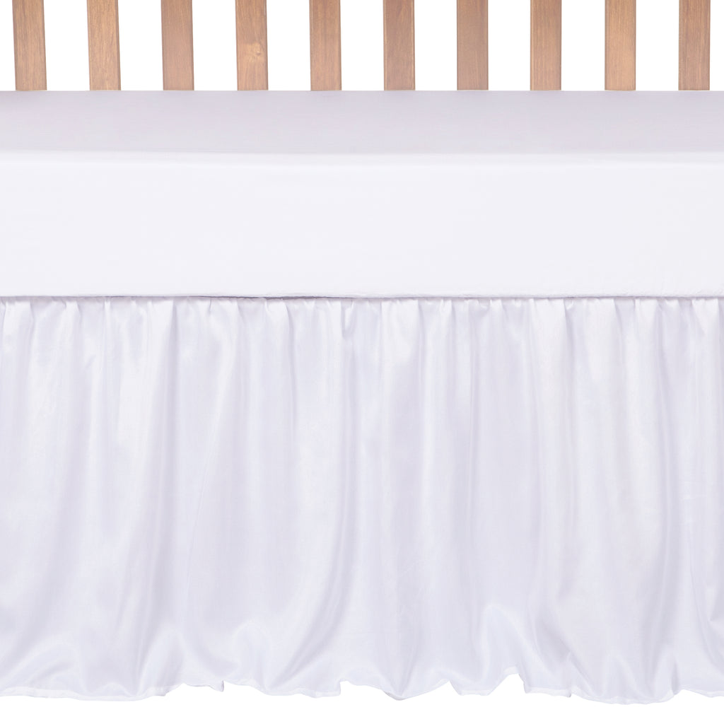 Simply White 3 Piece Crib Bedding Set Trend Lab, LLC