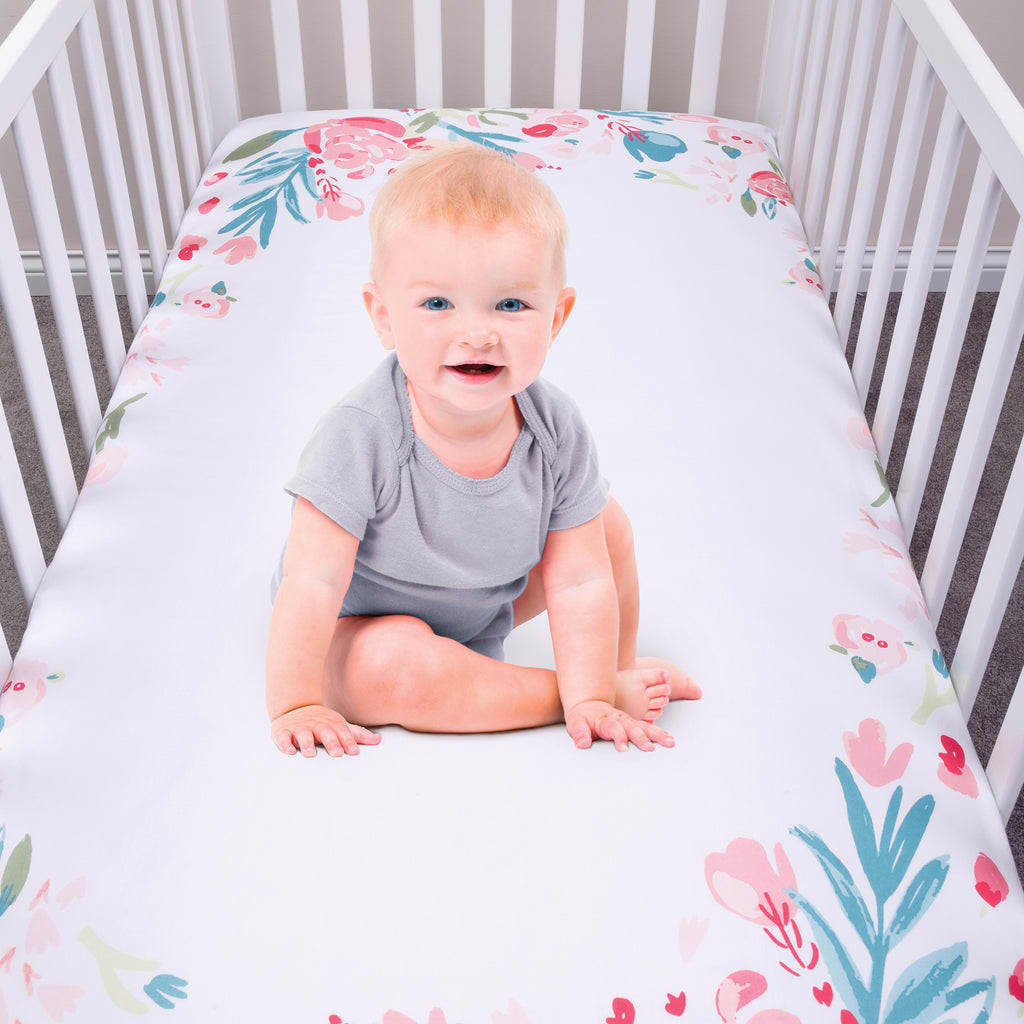 My Tiny Moments™ Painterly Floral Photo Op Fitted Crib Sheet Trend Lab, LLC