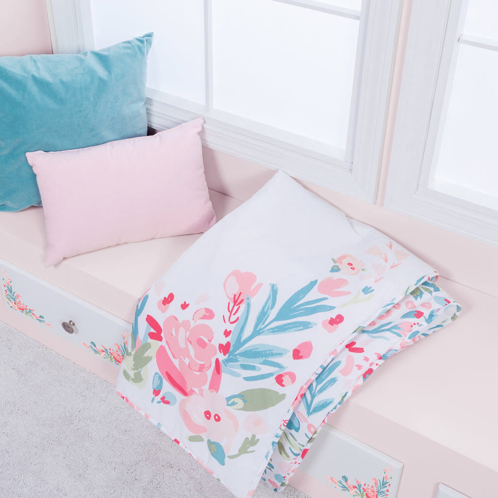 Painterly Floral 3 Piece Crib Bedding Set