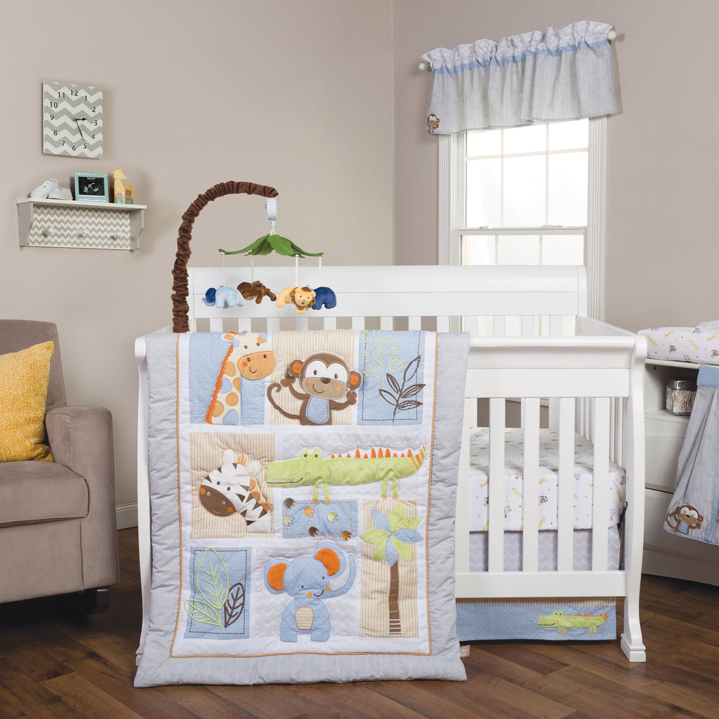 Jungle Fun 6 Piece Crib Bedding Set Trend Lab, LLC
