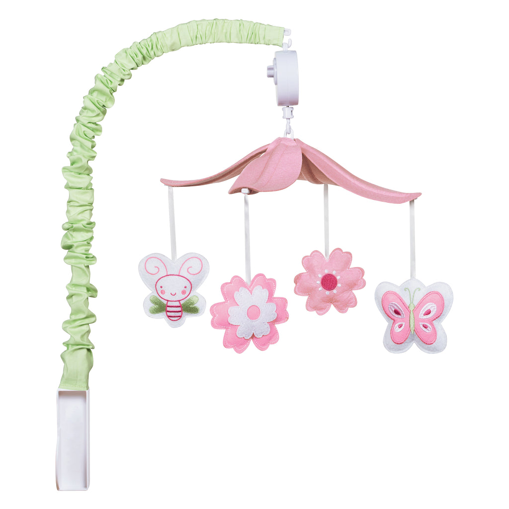 Floral Musical Crib Mobile