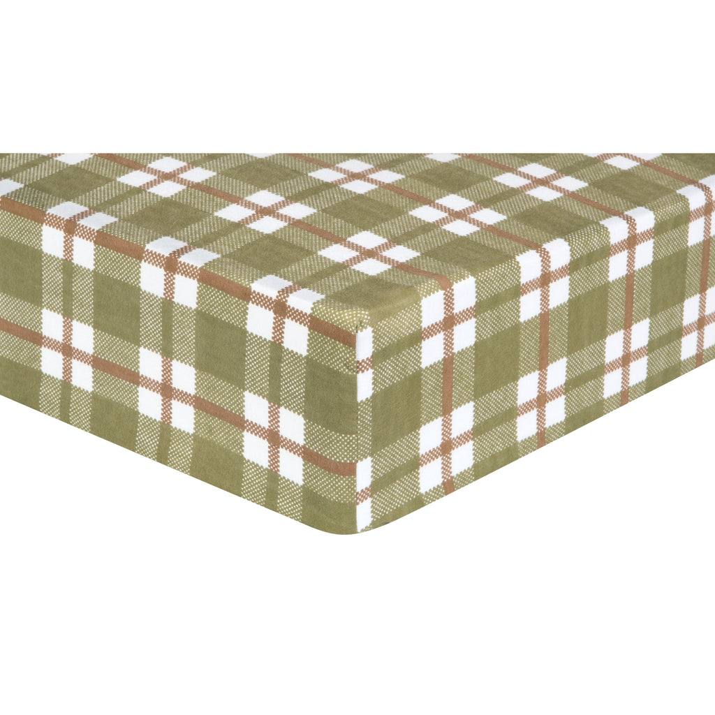 Deer Lodge Plaid Deluxe Flannel Fitted Crib Sheet Trend Lab, LLC
