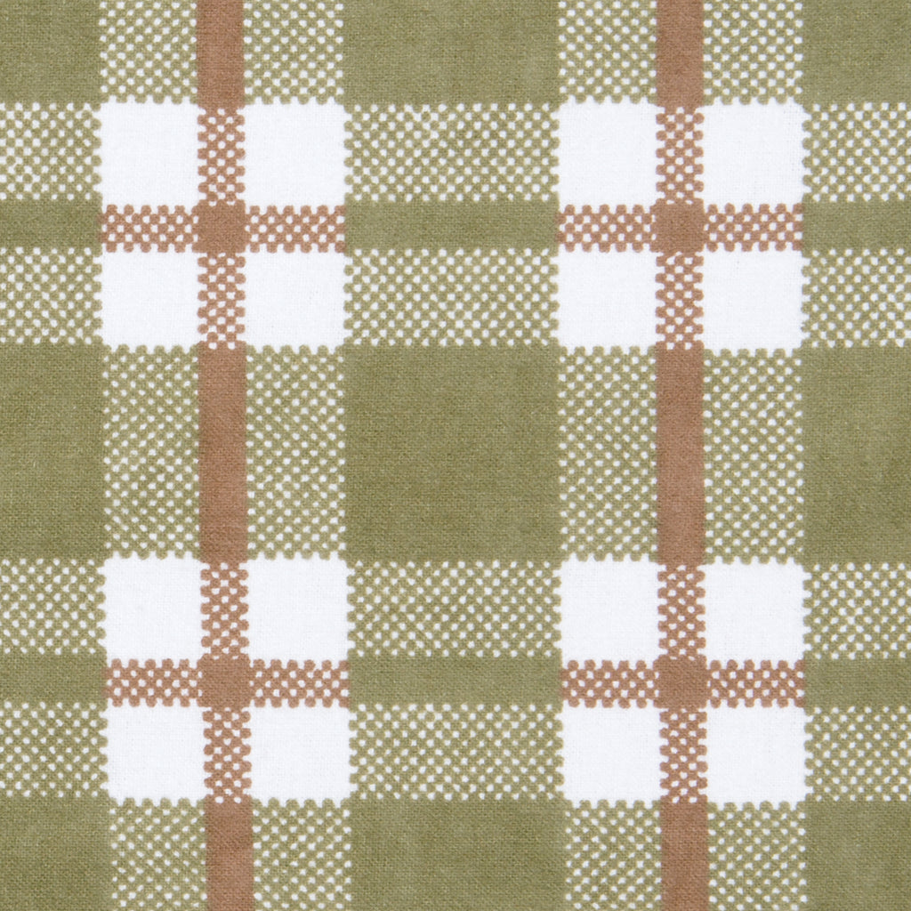 Deer Lodge Plaid Deluxe Flannel Fitted Crib Sheet