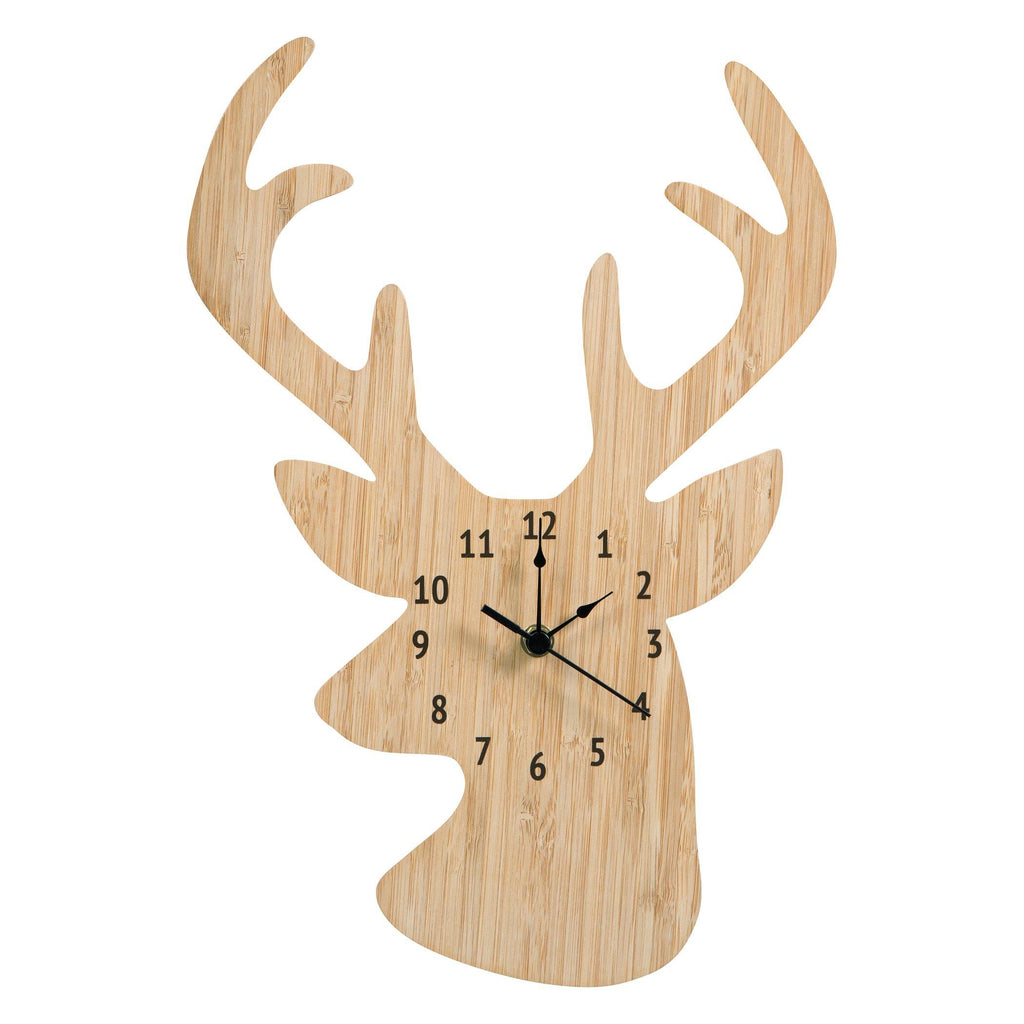 Bamboo Stag Head Wall Clock Trend Lab, LLC