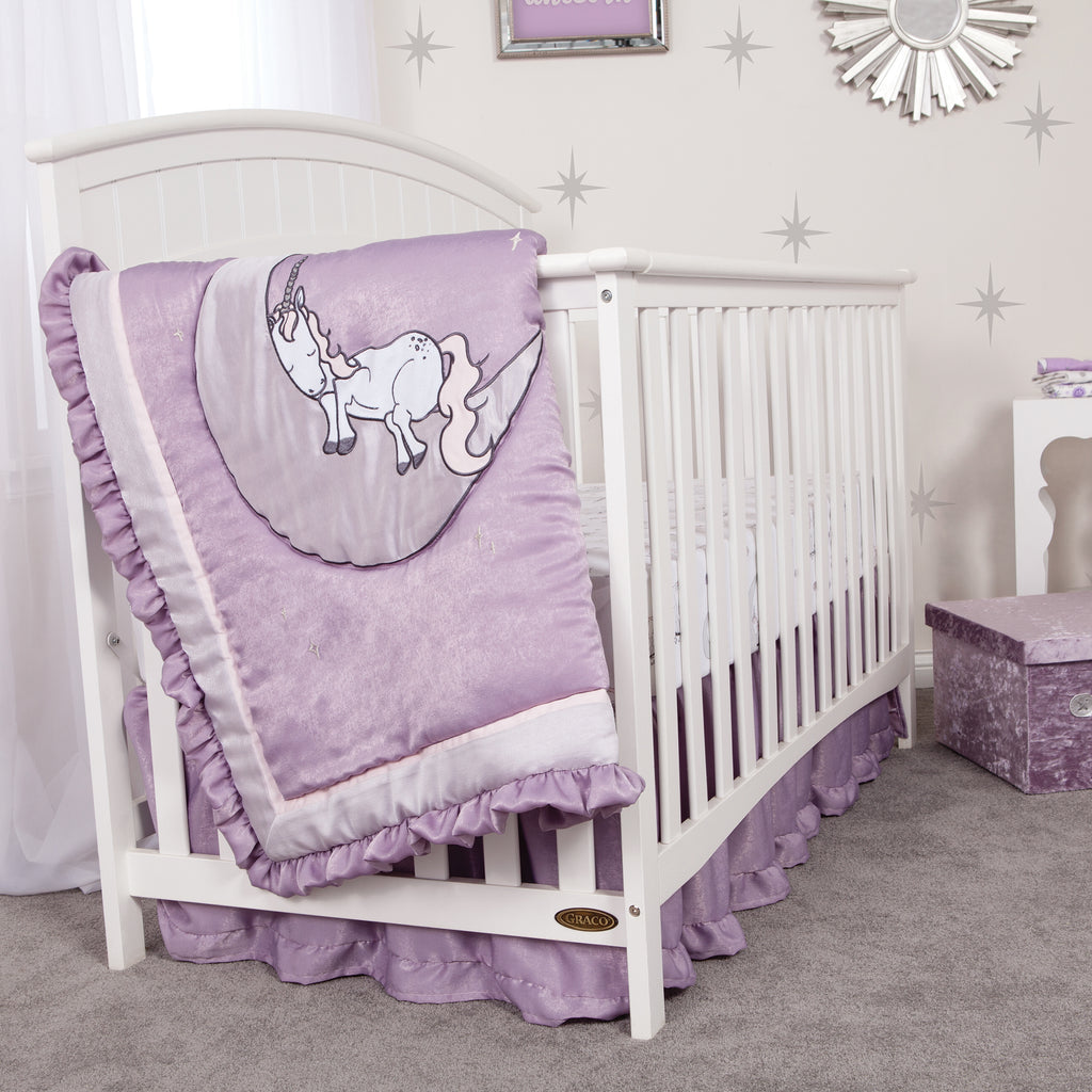 Unicorn Dreams 3 Piece Crib Bedding Set Trend Lab, LLC