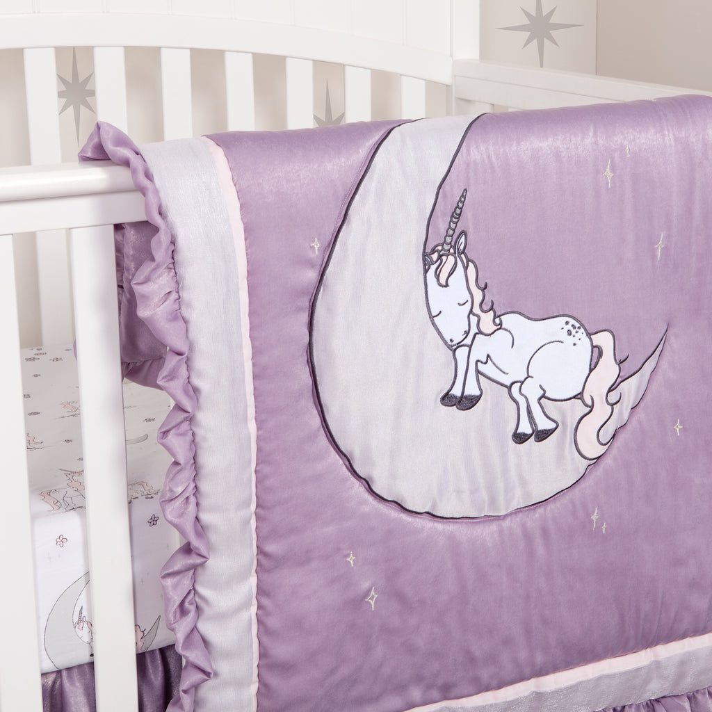 Unicorn Dreams 3 Piece Crib Bedding Set