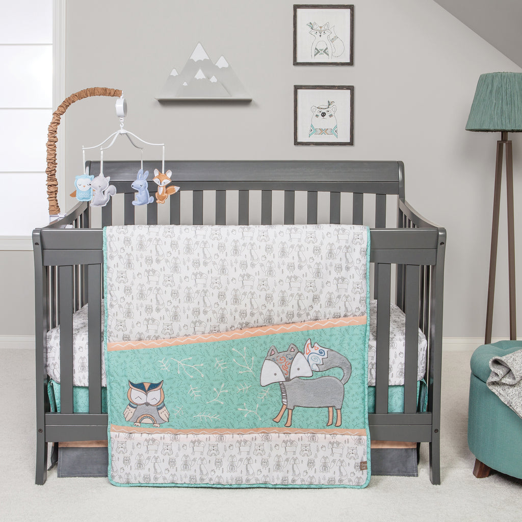 Sawyer 3 Piece Crib Bedding Set Trend Lab, LLC