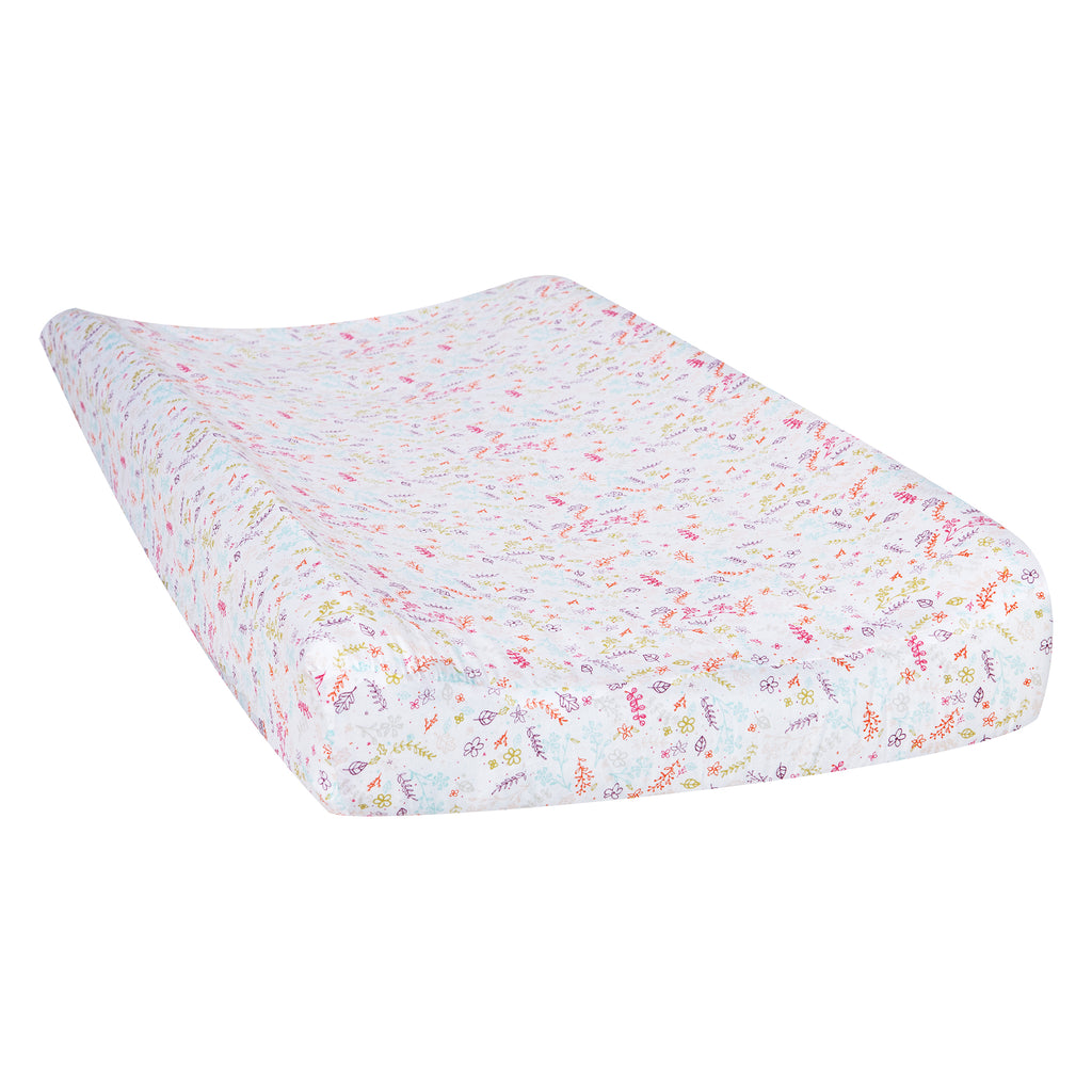Trend Lab White Chevron Print Changing Pad Cover Mint Green