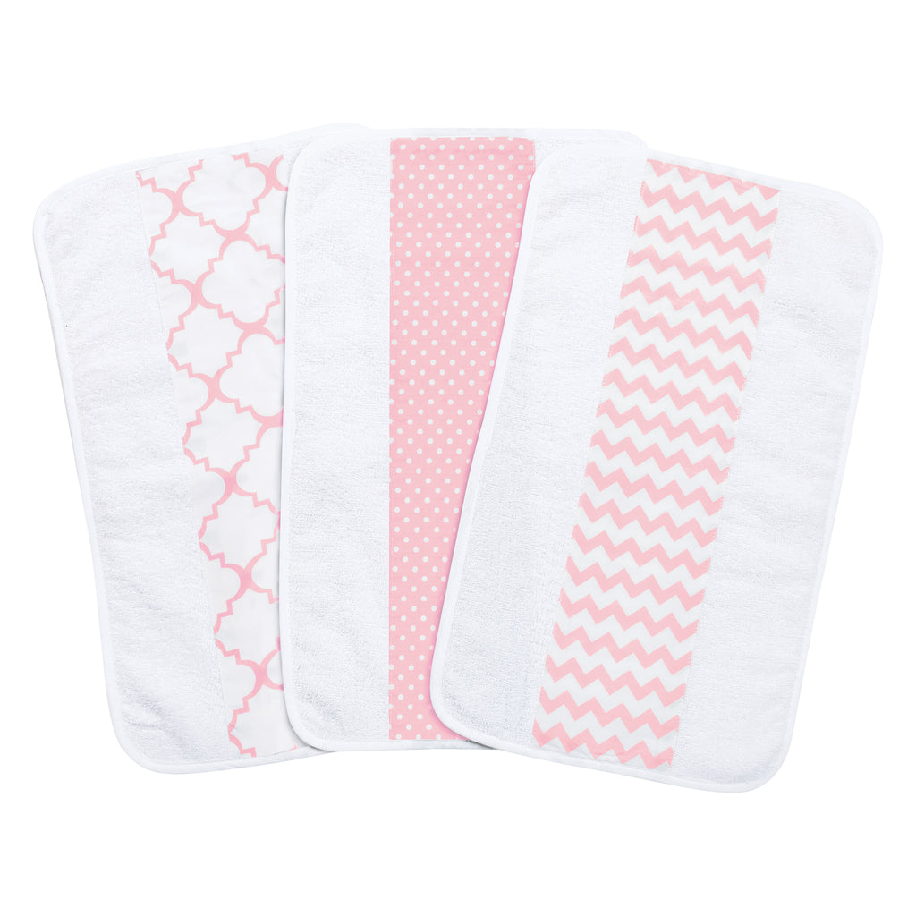 Pink Sky 3 Pack Jumbo Burp Cloth Set Trend Lab, LLC