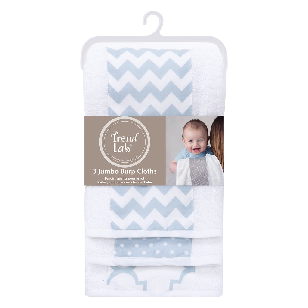 Blue Sky 3 Pack Jumbo Burp Cloth Set