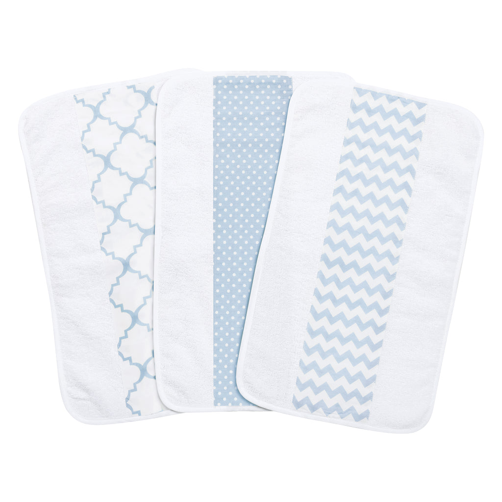Blue Sky 3 Pack Jumbo Burp Cloth Set Trend Lab, LLC