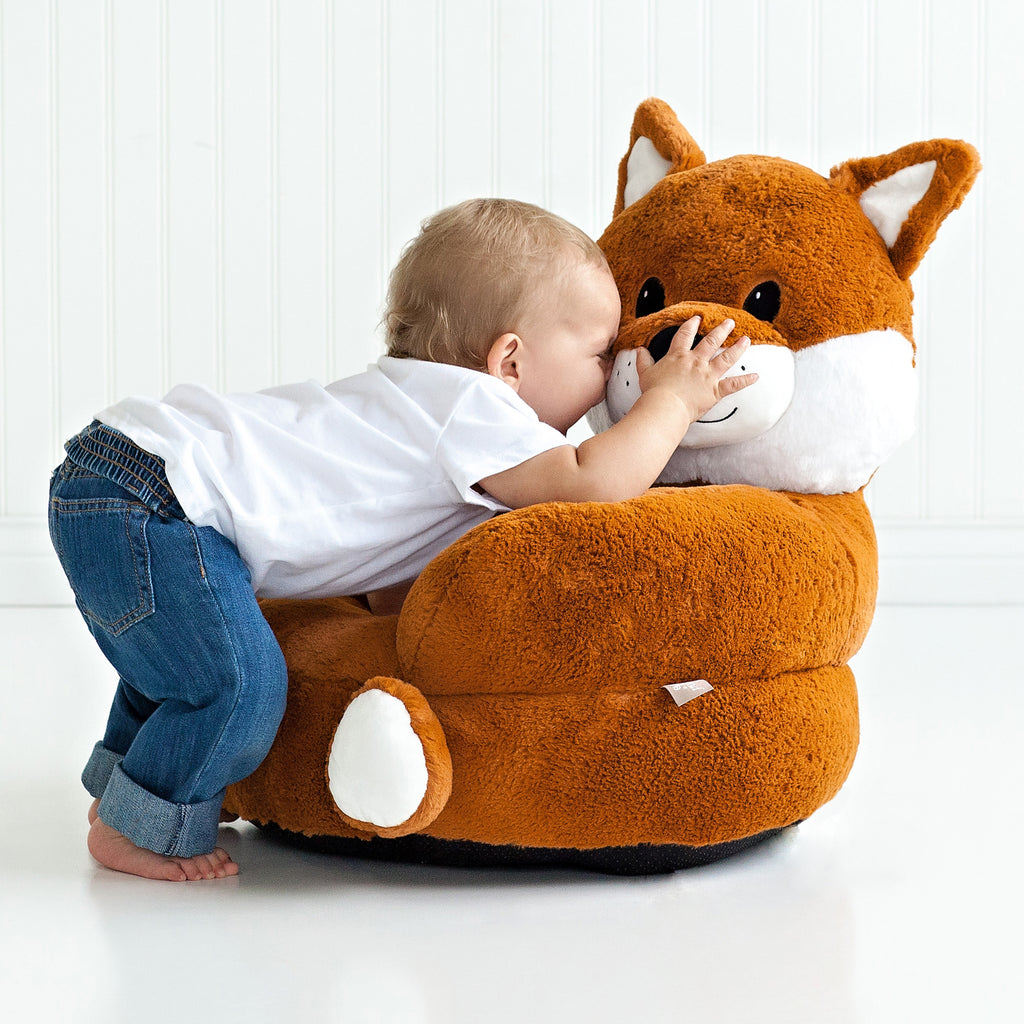 Children's Plush Fox Character Chair