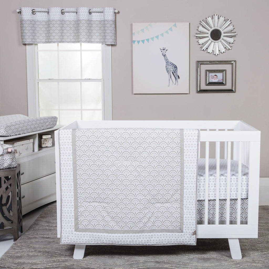 Art Deco 3 Piece Crib Bedding Set