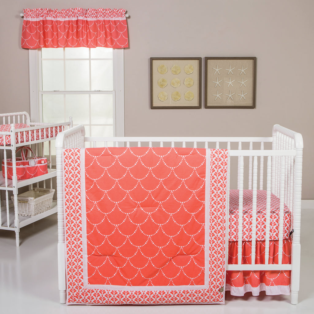 Shell 3 Piece Crib Bedding Set Trend Lab, LLC
