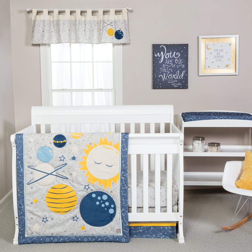 Galaxy 3 Piece Crib Bedding Set Trend Lab, LLC