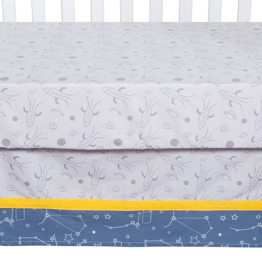 Galaxy 3 Piece Crib Bedding Set