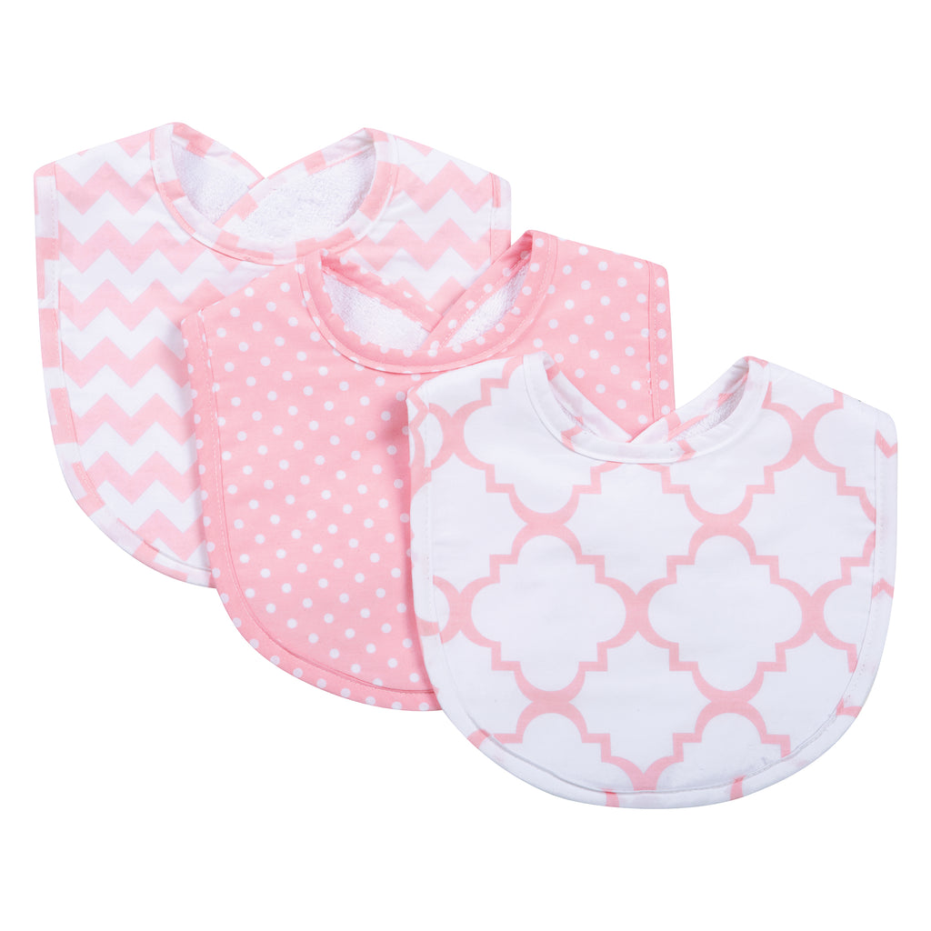 Pink Sky 3 Pack Bib Set Trend Lab, LLC