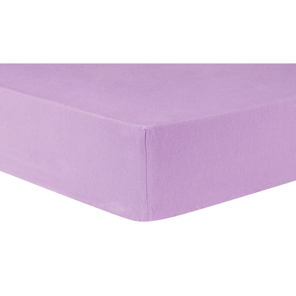 Lilac Deluxe Flannel Fitted Crib Sheet Trend Lab, LLC