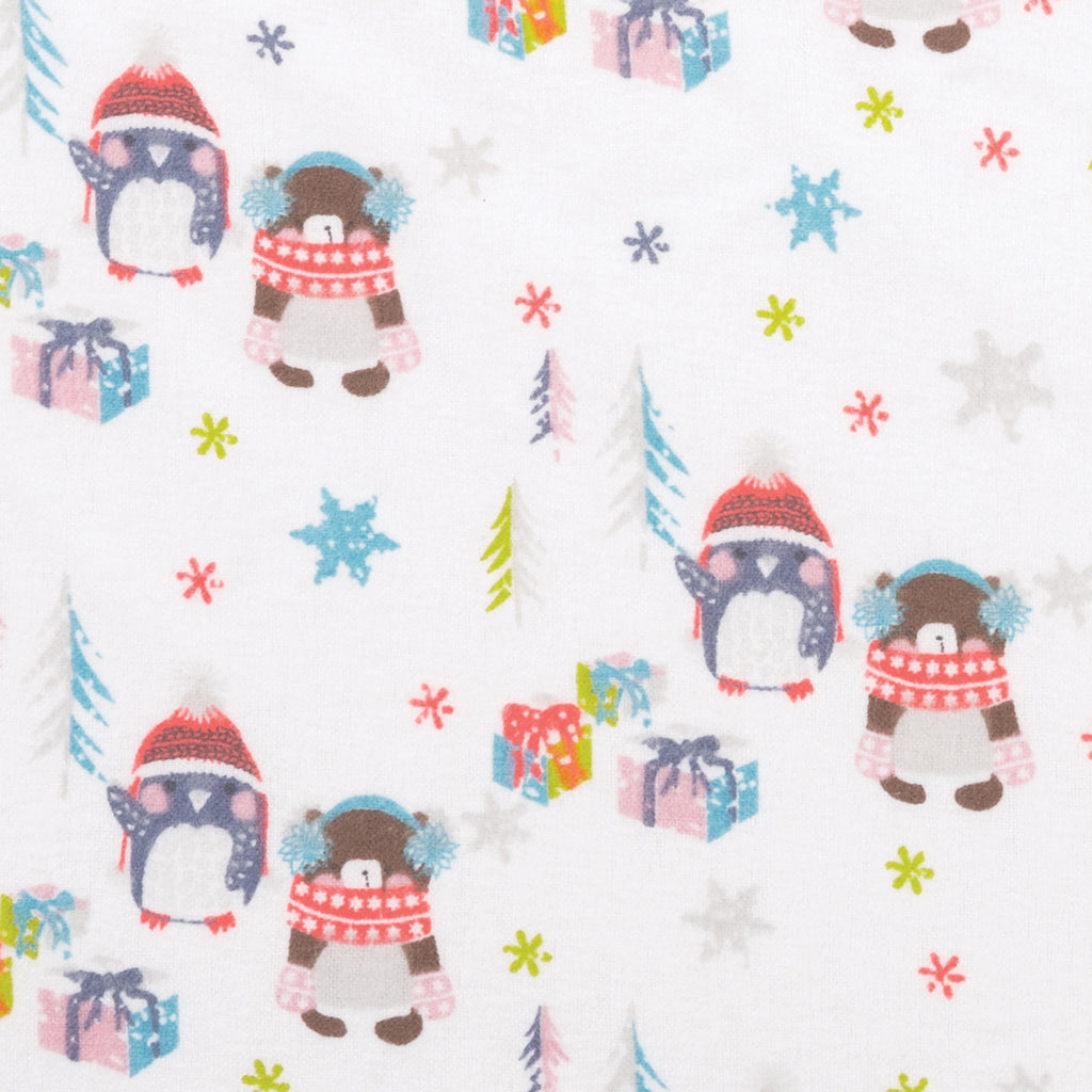 Winter Wishes Deluxe Flannel Fitted Crib Sheet