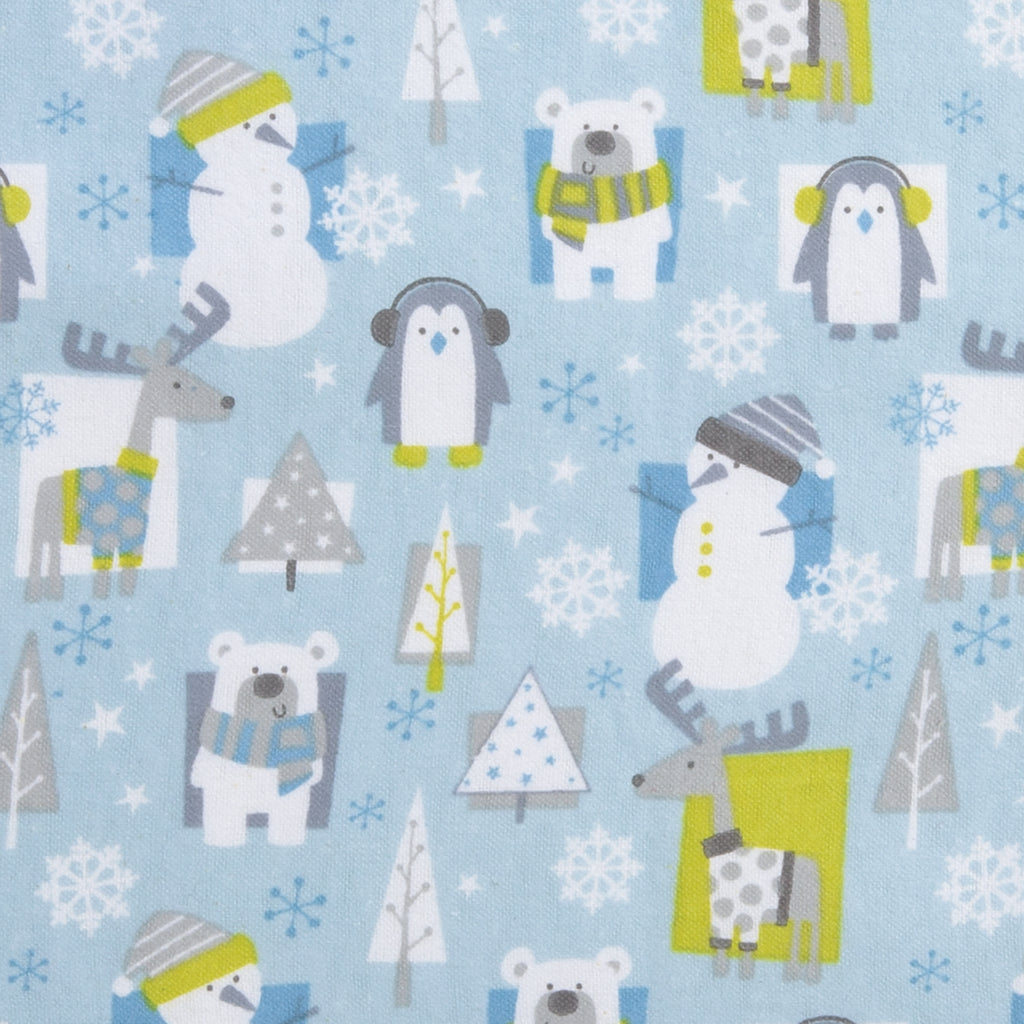 Snow Pals Blue Deluxe Flannel Fitted Crib Sheet102730$17.99Trend Lab