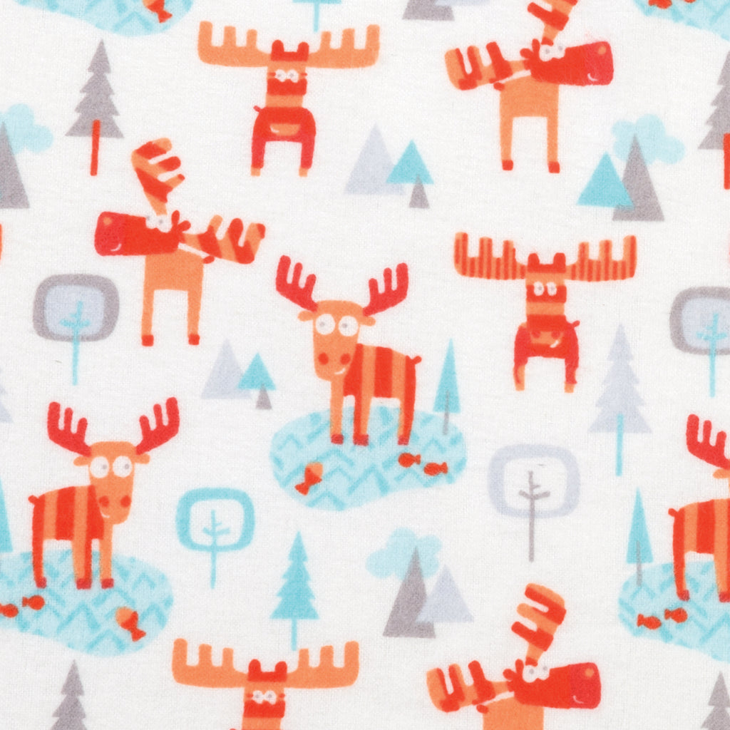 Winter Moose Deluxe Flannel Fitted Crib Sheet Trend Lab, LLC