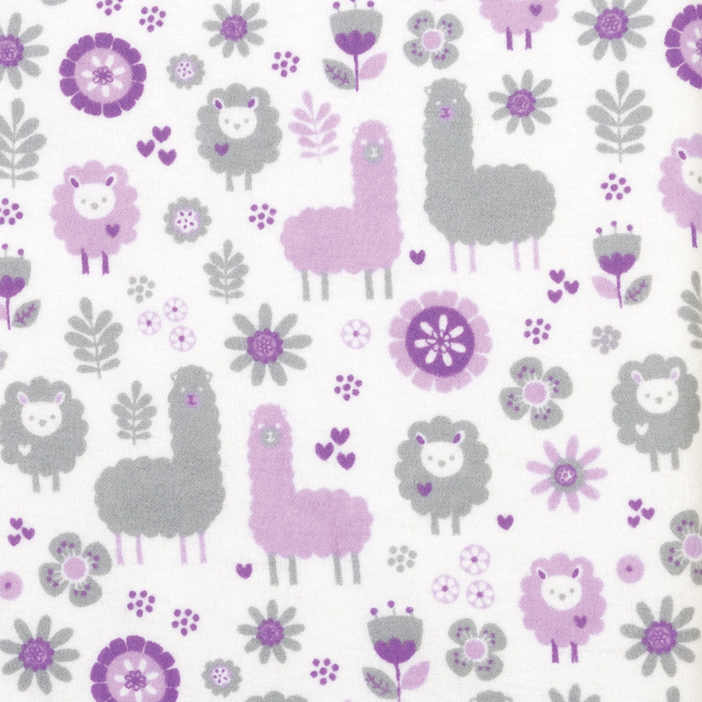 Llama Friends Deluxe Flannel Fitted Crib Sheet