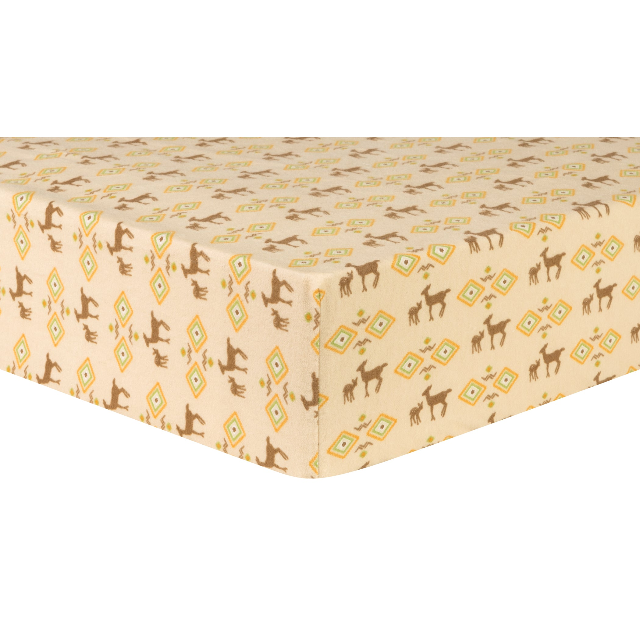 Deer Aztec Deluxe Flannel Fitted Crib Sheet Crib Sheets Trend Lab
