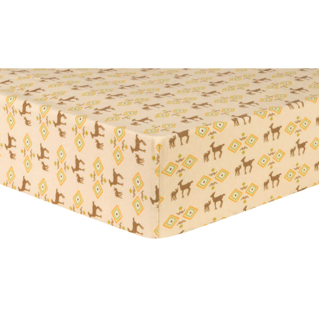 Deer Aztec Deluxe Flannel Fitted Crib Sheet Trend Lab, LLC