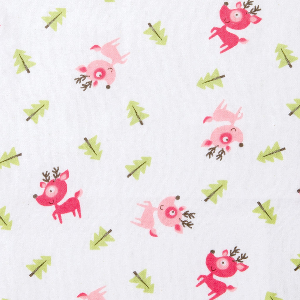 Pink Reindeer Deluxe Flannel Fitted Crib Sheet102736$17.99Trend Lab