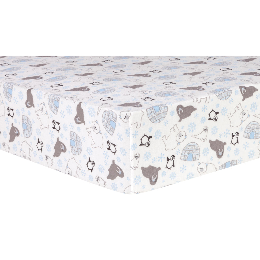 Igloo Friends Deluxe Flannel Fitted Crib Sheet102740$17.99Trend Lab