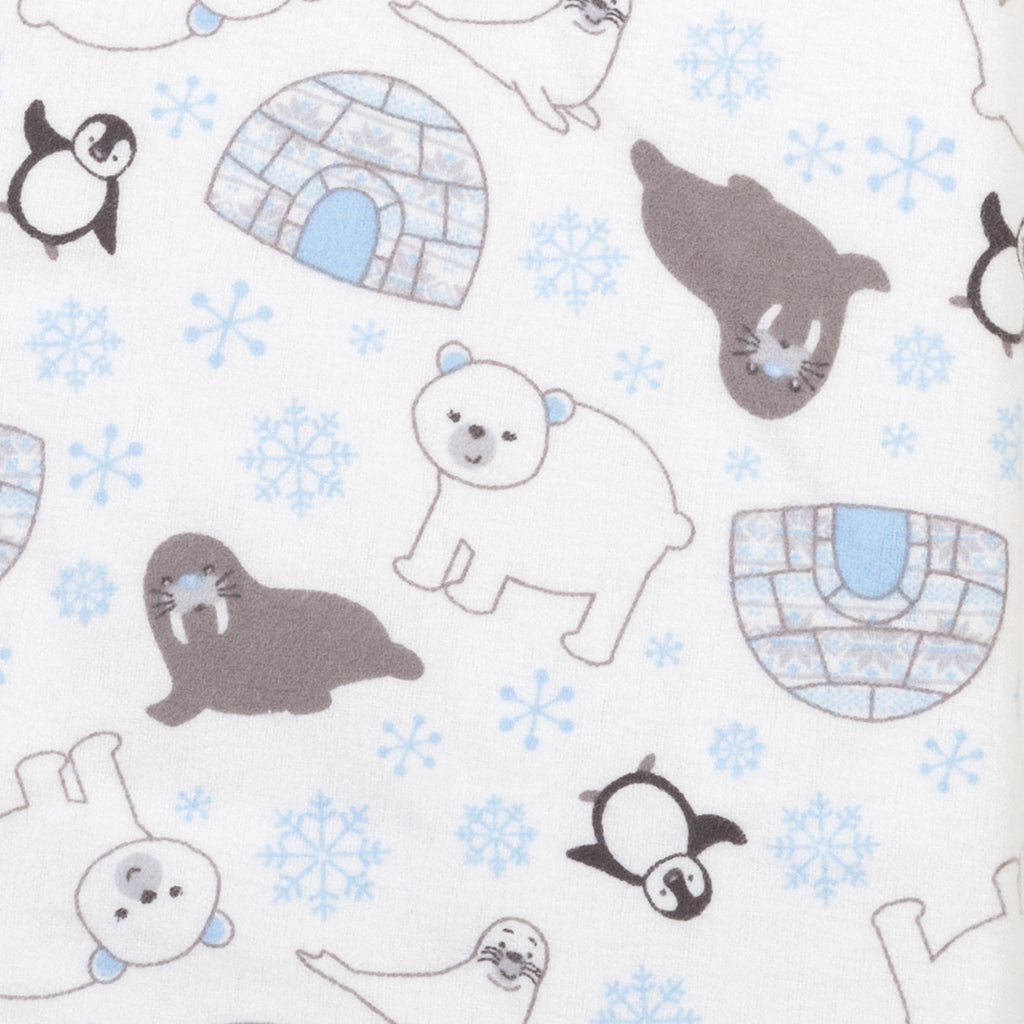 Igloo Friends Deluxe Flannel Fitted Crib Sheet Trend Lab, LLC