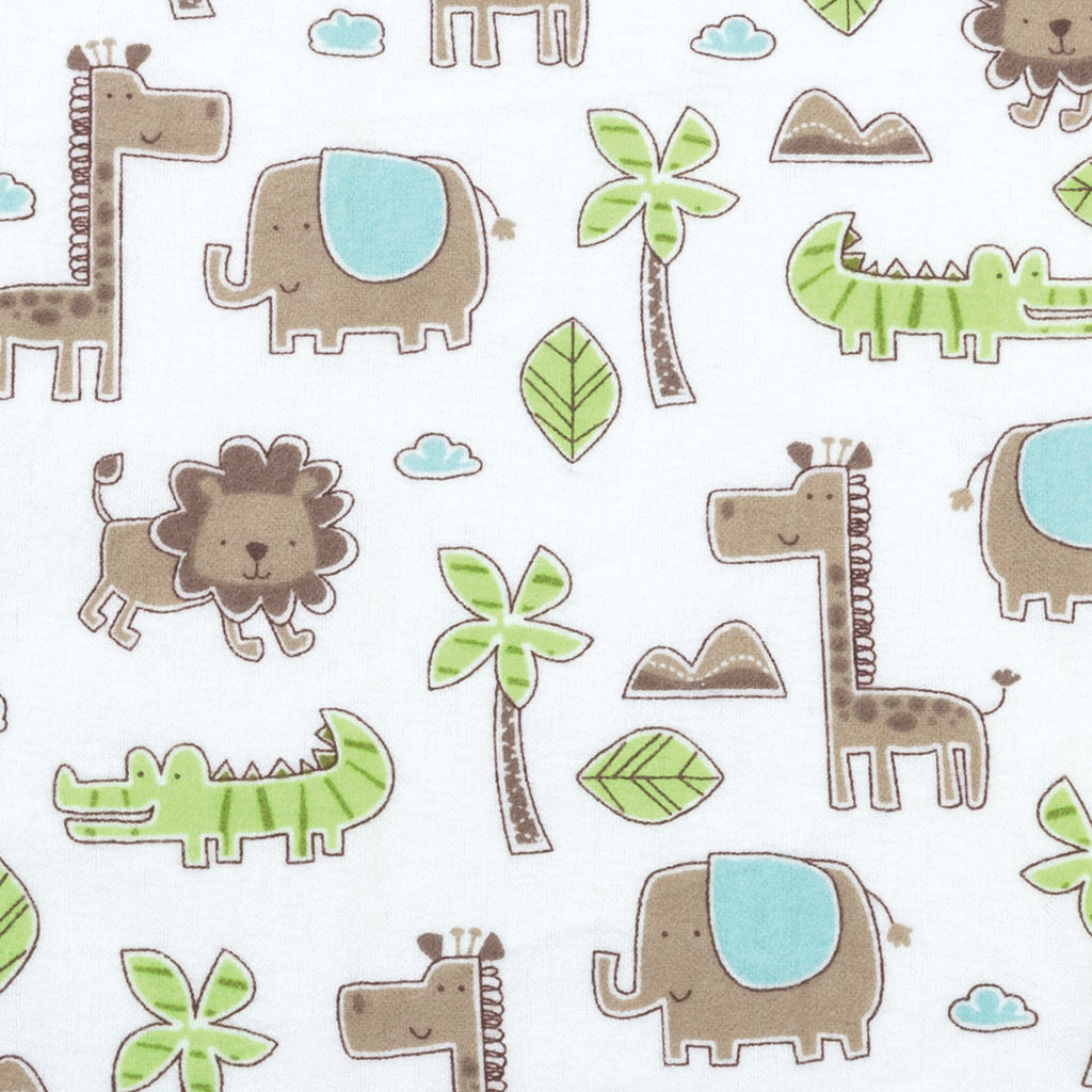 Sage Safari Animals Deluxe Flannel Fitted Crib Sheet102743$17.99Trend Lab