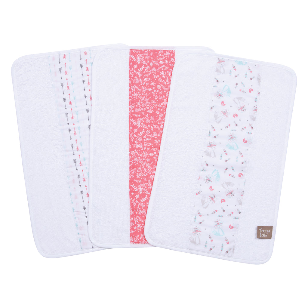 Fox and Feathers 3 Pack Jumbo Burp Cloth Set102798$12.99Trend Lab