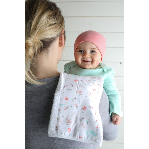Fox And Feathers 3 Pack Jumbo Burp Cloth Set Trend Lab Llc