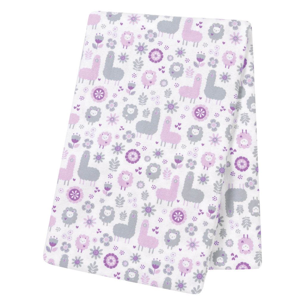 Llama Friends Jumbo Deluxe Flannel Swaddle Blanket Trend Lab, LLC