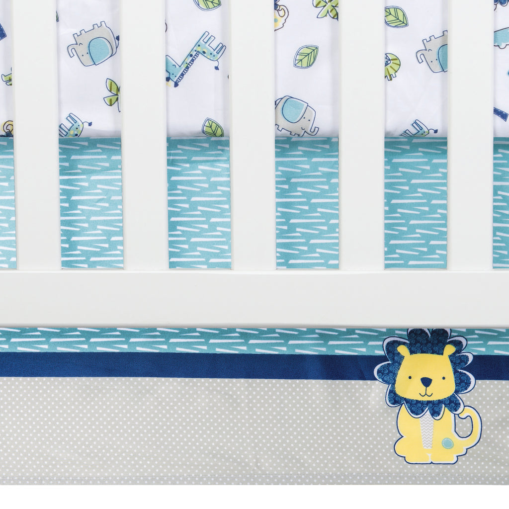 Jungle Roar 4 Piece Crib Bedding Set Trend Lab, LLC