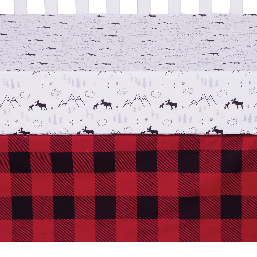 Lumberjack Moose 3 Piece Crib Bedding Set