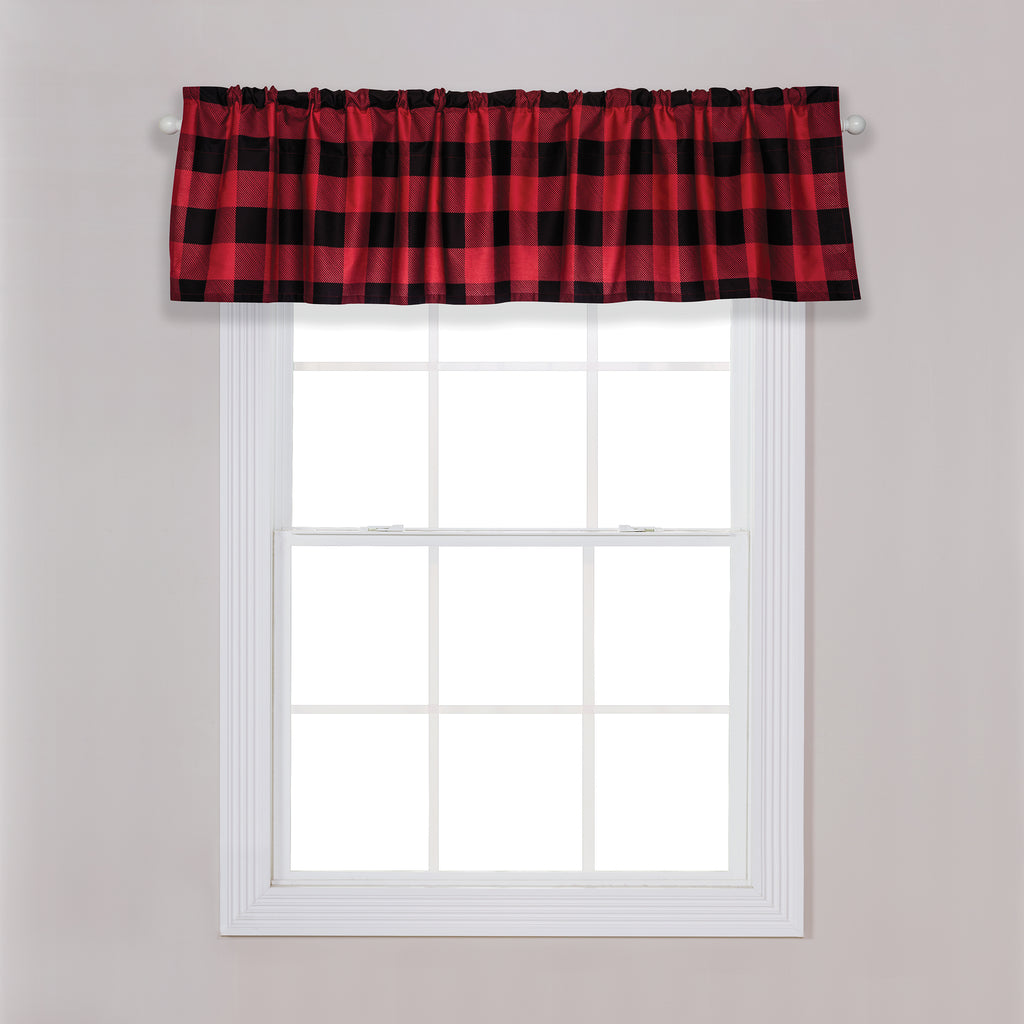 Red and Black Buffalo Check Window Valance Trend Lab, LLC