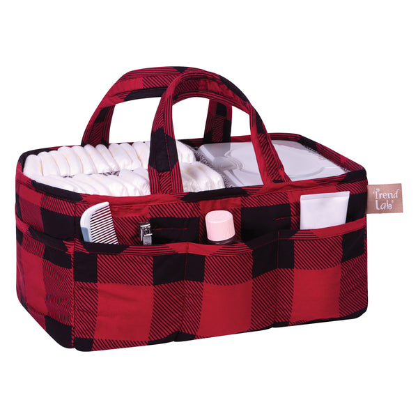 Red And Black Buffalo Check Storage Caddy Trend Lab Llc