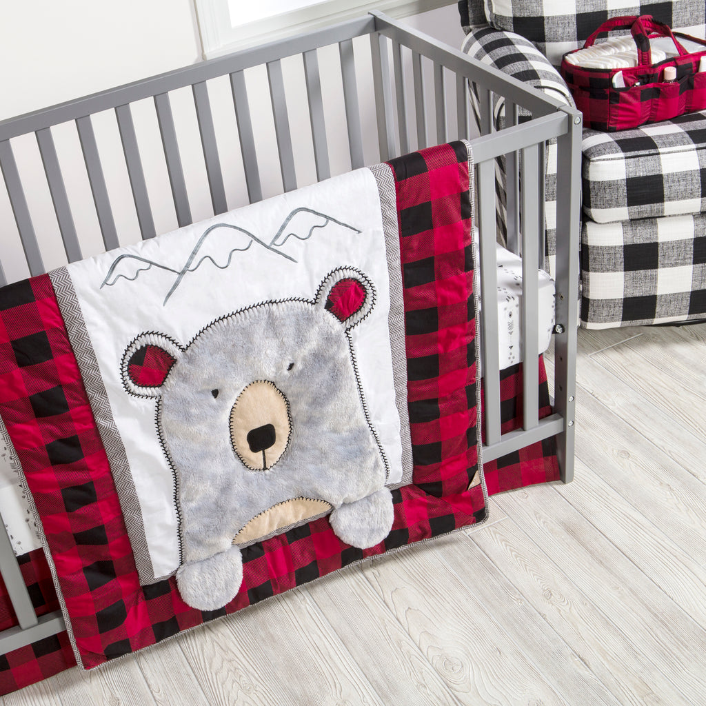 Peak-a-Bear 3 Piece Crib Bedding Set Trend Lab, LLC