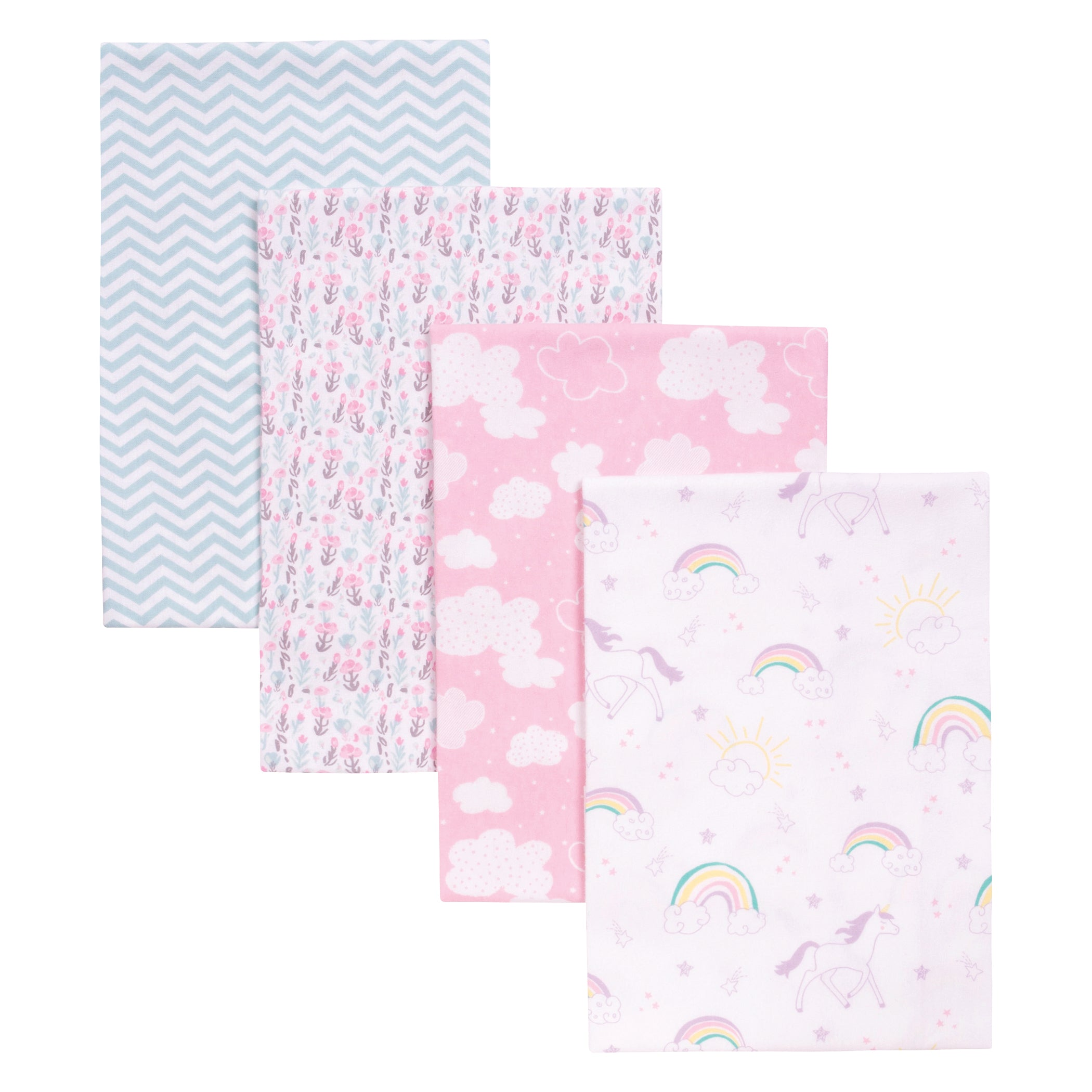 WAVERLY FLANNEL FABRIC RECEIVING BLANKETS PINKS  NEW