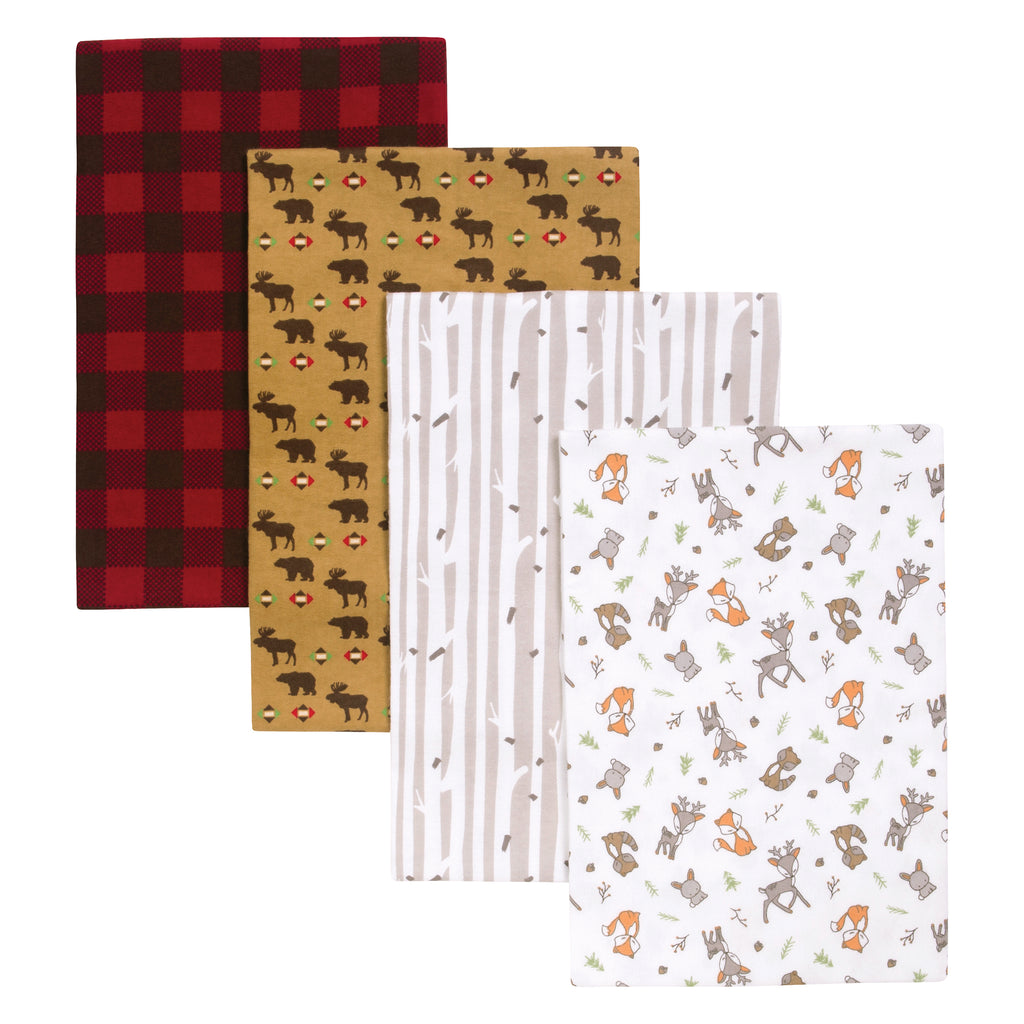 Northwoods 4 Pack Flannel Blankets Trend Lab, LLC