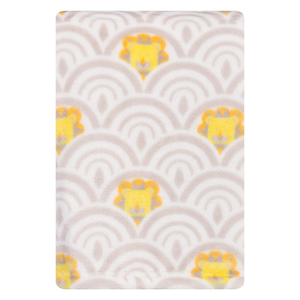 Art Deco Lions Scallop Plush Baby Blanket Trend Lab, LLC