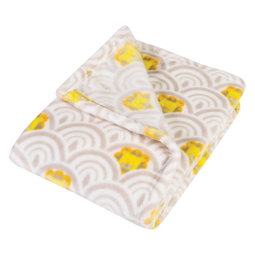 102877_ArtDecoLions_PolyFlannel_Blanket_Angled