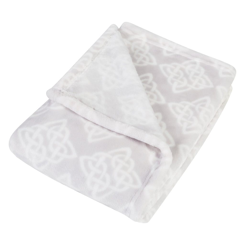 Celtic Knot Plush Baby Blanket Bedding And Accessories