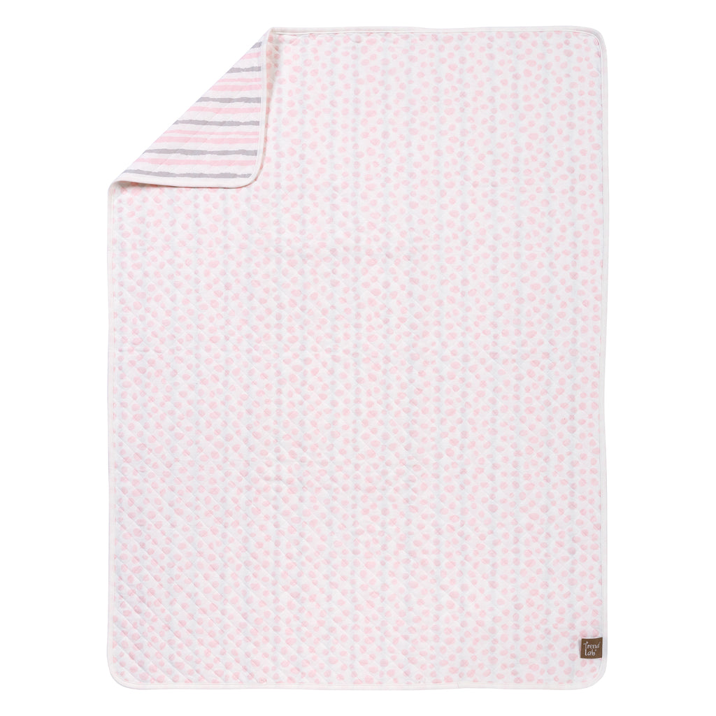 Pink and Gray Cloud Knit Blanket Trend Lab, LLC