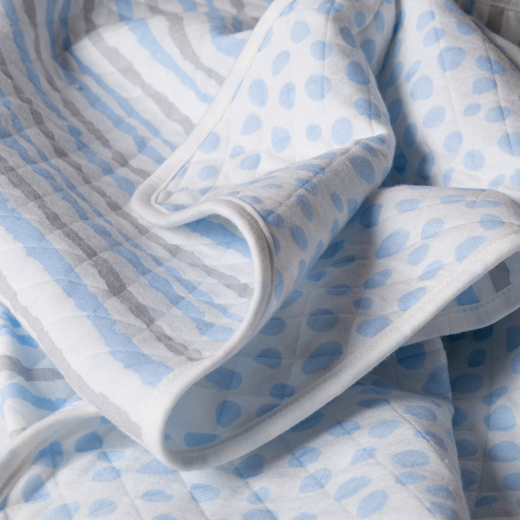 Blue and Gray Cloud Knit Blanket Trend Lab, LLC